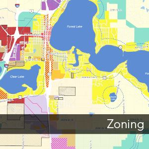 Photo of a Forest Lake Zoning Map
