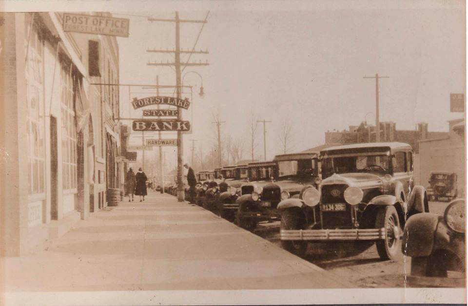 Historical old main street photo